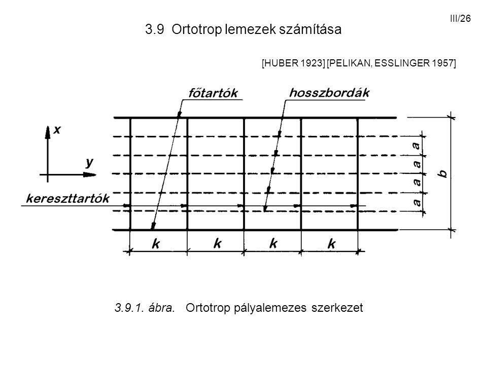 3.9 Ortotrop lemezek számítása [HUBER 1923] [PELIKAN, ESSLINGER 1957]